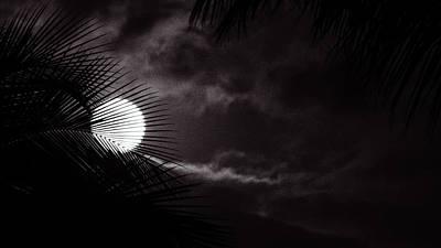 Photograph - Moonrise Noir by Lawrence S Richardson Jr