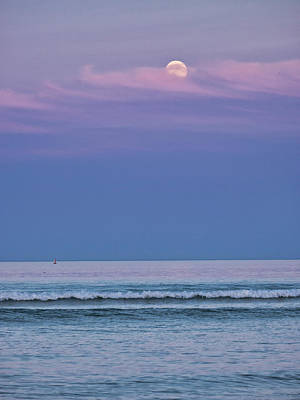 Photograph - Moonrise - Ogunquit Beach - Maine by Steven Ralser