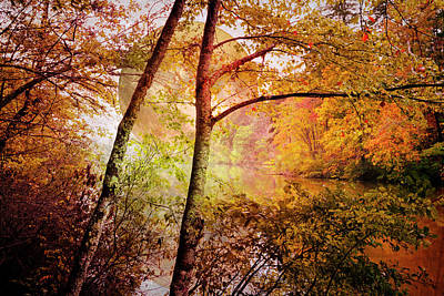 Photograph - Moonrise Over Autumn by Debra and Dave Vanderlaan