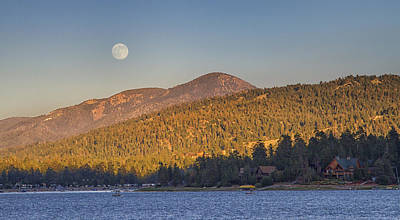 Photograph - Moonrise Over Big Bear Lake by Chris Reed