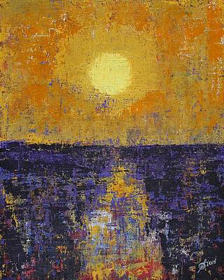 Painting - Moonrise Over Coligny Original Painting by Sol Luckman