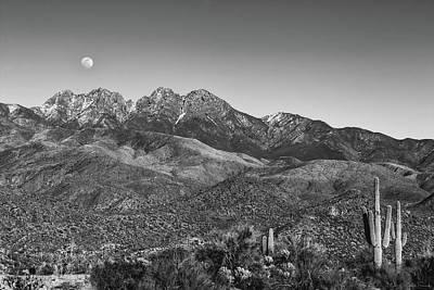 Photograph - Moonrise Over Four Peaks by Rick Furmanek