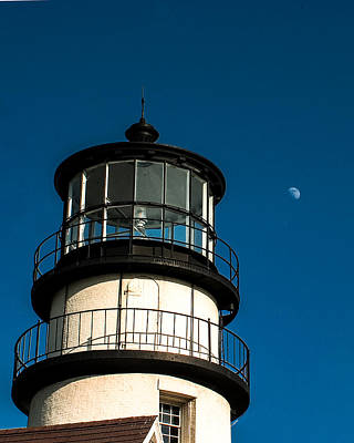 Photograph - Moonrise Over Highland Lighthouse by Jeff Folger