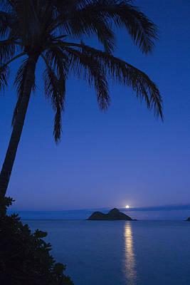 Photograph - Moonrise Over Lanikai by Dana Edmunds - Printscapes