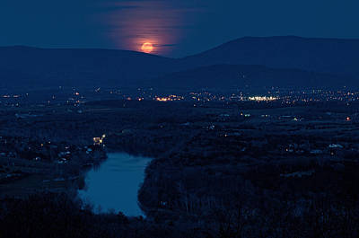 Photograph - Moonrise Over Luray by Lara Ellis