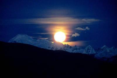 Photograph - New Year's Super Moon by Karen Molenaar Terrell