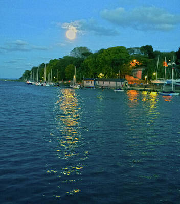 Photograph - Moonrise Over Nothe Fort by Anne Kotan