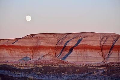 Photograph - Moonrise Over Painted Desert by KJ Swan