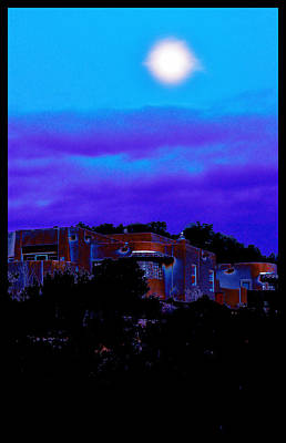 Photograph - Moonrise Over Santa Fe by Susanne Still