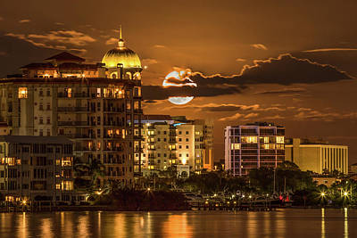 Photograph - Moonrise Over Sarasota by Richard Goldman