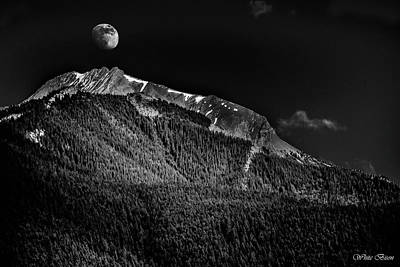 Photograph - Moonrise Over The Rockies by Patrick Boening