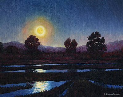 Painting - Moonrise Over Wet Field by Douglas Castleman