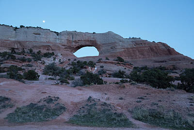 Photograph - Moonrise Over Wilson Arch by Tom Cochran