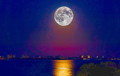 Photograph - Moonrise by Richard Goldman