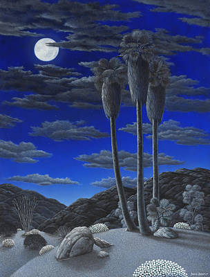 Sand Dunes Painting - Moonrise by Snake Jagger