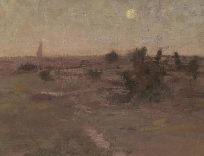 Painting - Moonrise, Templestowe by David Davies