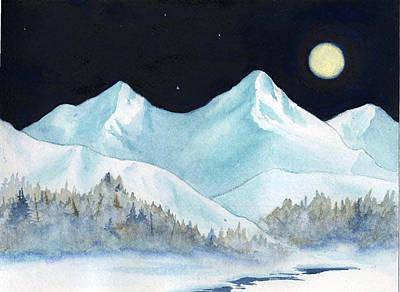 Painting - Moonrise by Teresa Boston