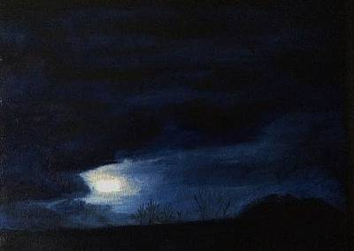 Painting - Moonrise by Therese Legere