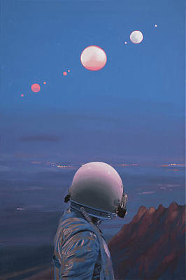 Science Fiction Painting - Moons by Scott Listfield