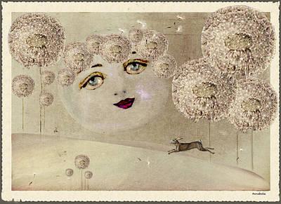 Annabelle Digital Art - Pastoral Dreams A Moon's Wish by Anna Belanger