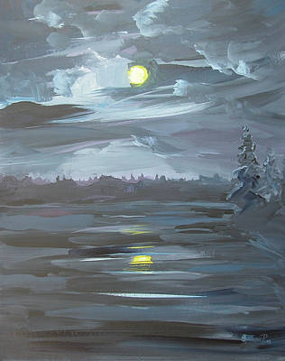 Painting - Moonscape by Synnove Pettersen