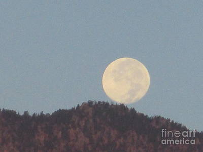 Photograph - Moonset 2 by Randall Weidner