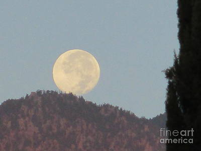 Photograph - Moonset 3 by Randall Weidner