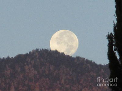 Photograph - Moonset 4 by Randall Weidner