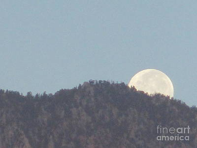 Photograph - Moonset 6 by Randall Weidner