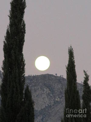 Photograph - Moonset 7 by Randall Weidner