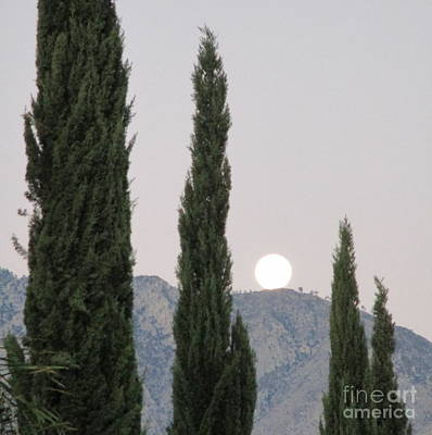Photograph - Moonset 8 by Randall Weidner