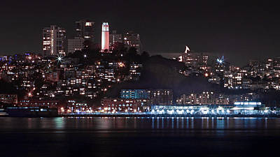 Photograph - Moonset Coit #2 by Cameron Howard
