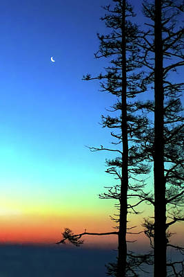 Photograph - Moonset by Jeff Heimlich