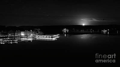 Photograph - Moonset Over Lake Of The Ozarks by Dennis Hedberg