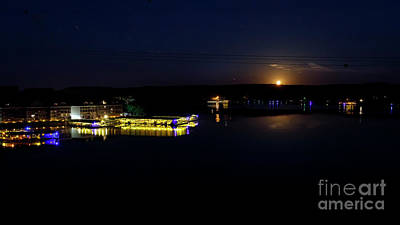 Photograph - Moonset Over Lake Of The Ozarks I by Dennis Hedberg