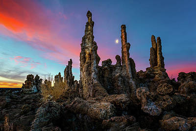Photograph - Moonset Over Mono Lake by Dave Koch