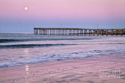 Photograph - Moonset Pastel by Alice Cahill