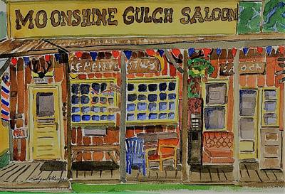 Painting - Moonshine Gulch by Rodger Ellingson