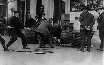 Photograph - Moonshine Raid By Prohibition Agents by Vintage Pix