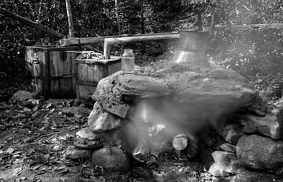 Photograph - Moonshine Still In Black And White by Greg Mimbs