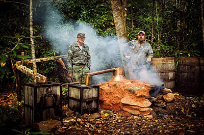 Photograph - Moonshine Still With Mark And Huck by Greg Mimbs