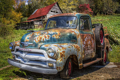 Red Roof Photograph - Moonshine Truck by Debra and Dave Vanderlaan