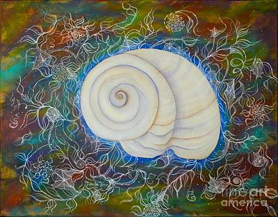 Painting - Moonsnail Lace by Deborha Kerr