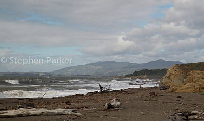 Photograph - Moonstone Beach 8b5282 by Stephen Parker