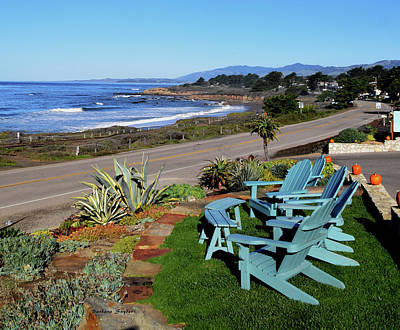 Art Print featuring the photograph Moonstone Beach Seat With A View by Barbara Snyder