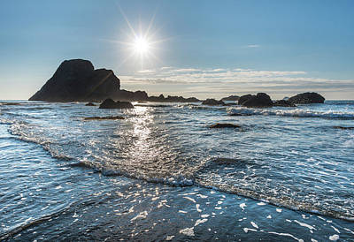 Photograph - Moonstone Beach Starburst Sun by Greg Nyquist