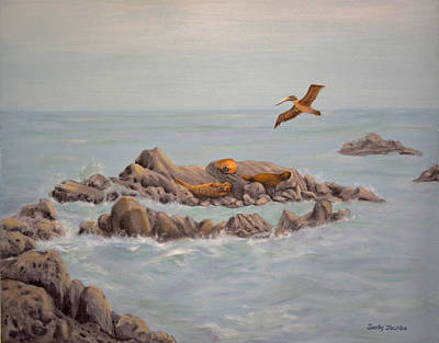 Painting - Moonstone Beach Tidepool by Sandy Murphree Jacobs