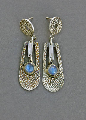 Sterling Silver Earring Jewelry - Moonstone by Mirinda Kossoff