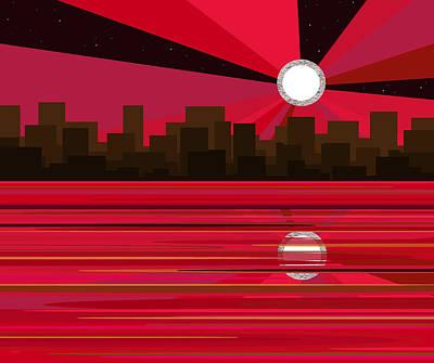 Digital Art - Moonstruck by Val Arie