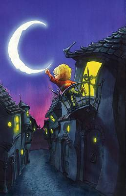 Painting - Moonthief by Andy Catling